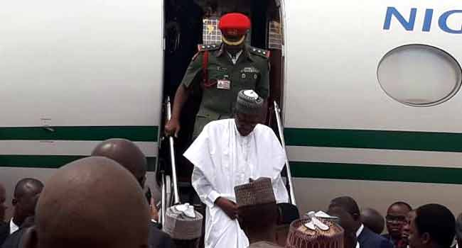 Image result for President Buhari arrives Bauchi for two-day working visit