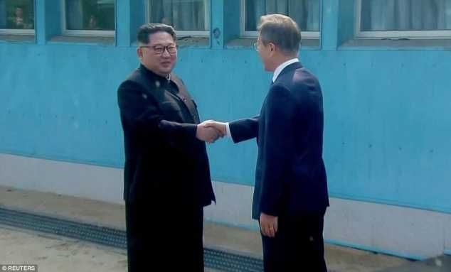 {filename}-Kim Jung-un Becomes First Leader To Cross Into The South After 65years
