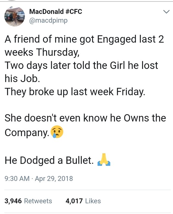 "A-Week Engaged Nigerian Lady Dumps Her Fiancé A Week After ""Losing"" His Job"