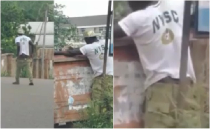 Image result for NYSC member runs mad in Enugu (Video)