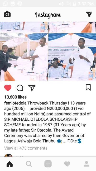 Hilarious Throwback Photo Of Femi Otedola & Tinubu 13 Years Ago