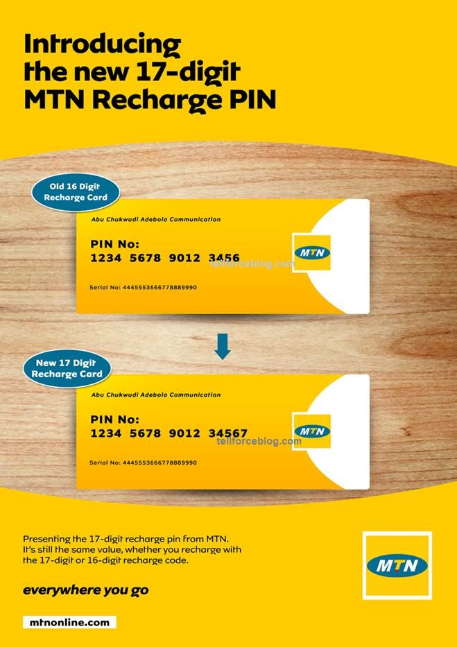 MTN Introduces 17-digit MTN Recharge PIN - Phones - Nigeria