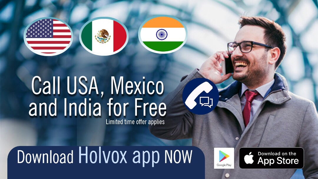 Holvox Offers Free Calls To USA, India And Mexico - Phones