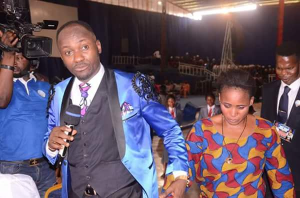 Image result for Apostle Suleman blesses lady with millions(Photos)