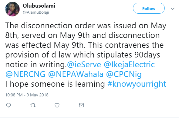 Female Lawyer Set To Sue PHCN For Disconnecting The Whole