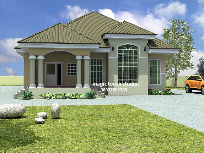 superior architectural designs for bungalows #3: Approach view