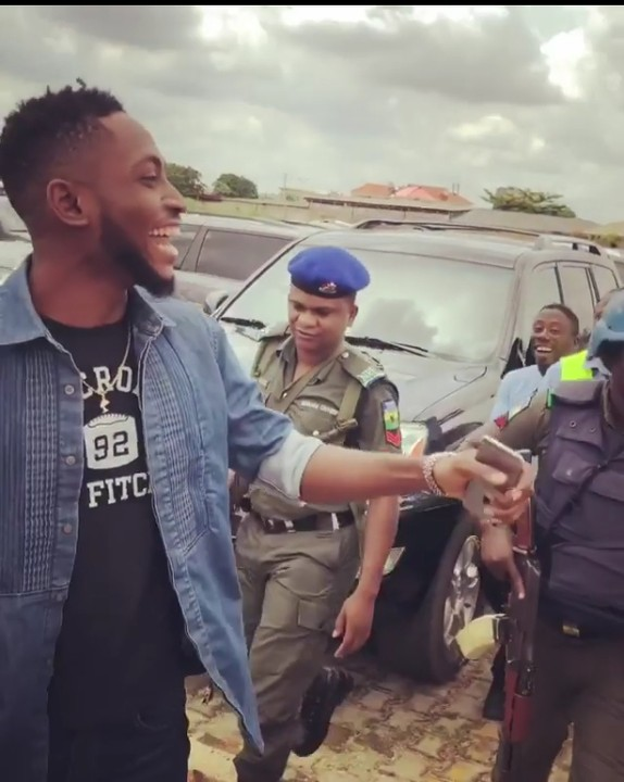 Image result for BBNaija winner Miracle steps out with security men in Warri(Photos,Video)