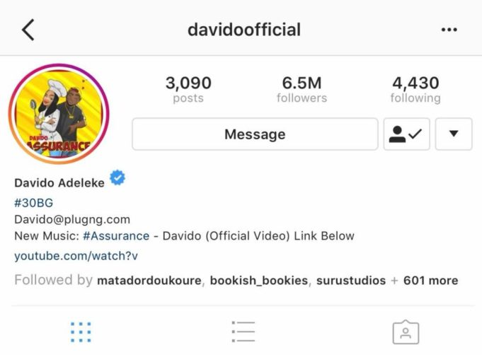 "Wizkid: Tiwa Savage & Davido Unfollow Each Other On IG After ""Sister Tiwa"" Comment"
