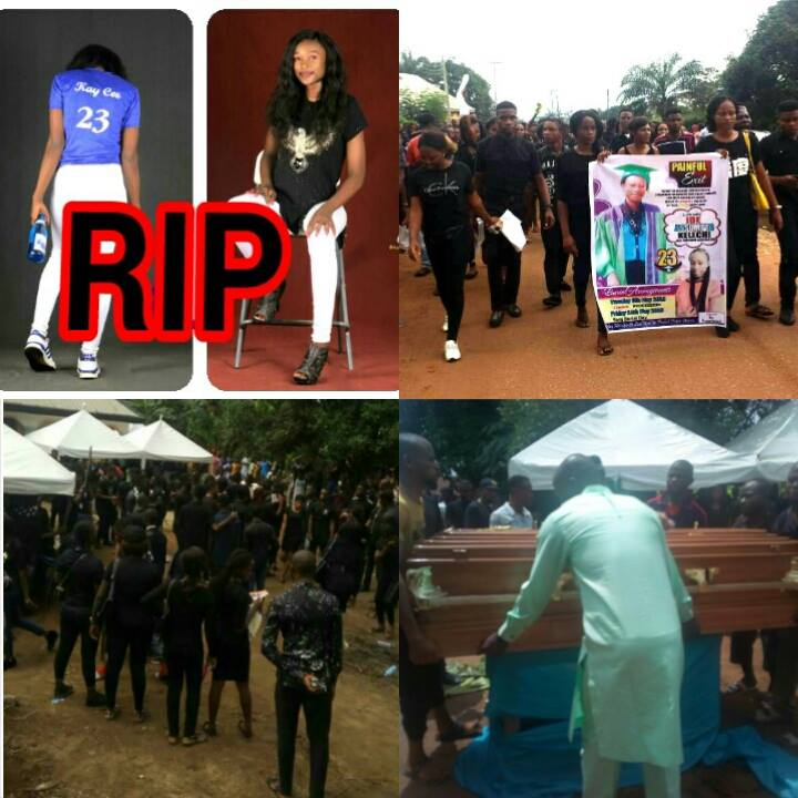 IMSU Final Year Student Who Was Shot Dead On Her Birthday,Buried Amid Tears.
