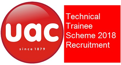 UAC of Nigeria Plc Technical Trainee Scheme in Onitsha, Jos and Lagos