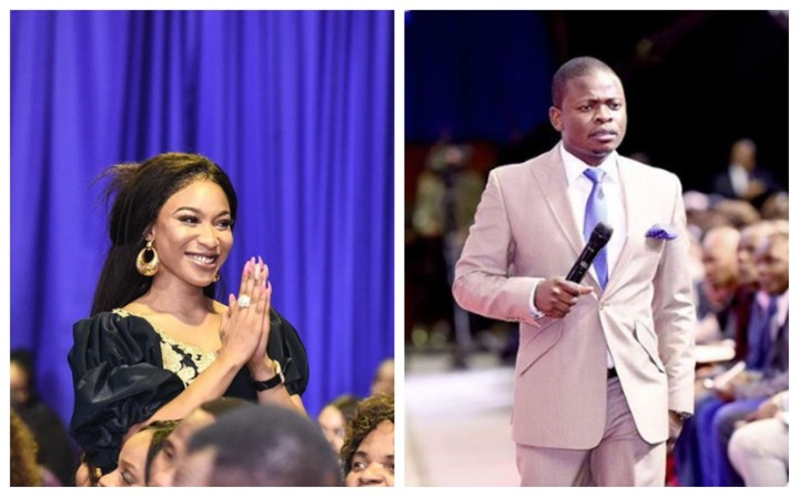{filename}-Tonto Dikeh At Shepherd Bushiri's Church In South Africa (photos)