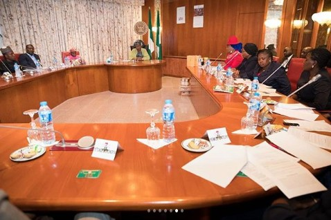 Aisha Buhari Hosts Officials Of National Association Of Lady Pharmacists (Photos)