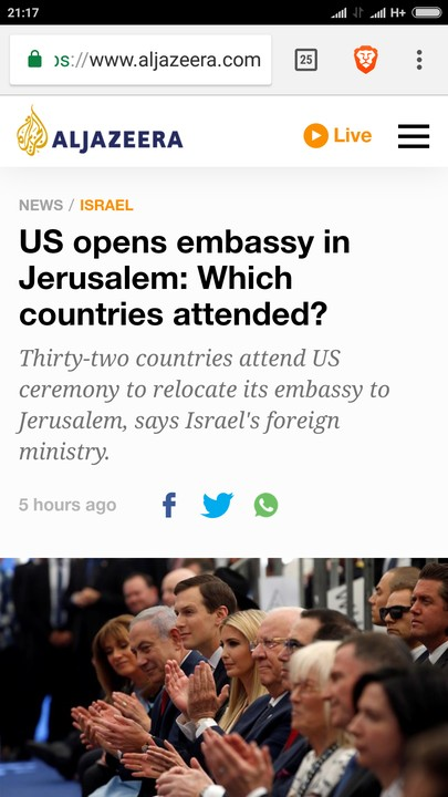 Nigeria Did Not Attend US Embassy Opening In Jerusalem - Aljazeera Corrects Self