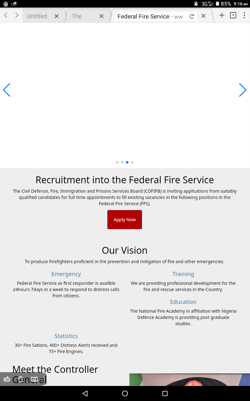 Recruitment Into The Federal Fire Service 2018. See How To Apply