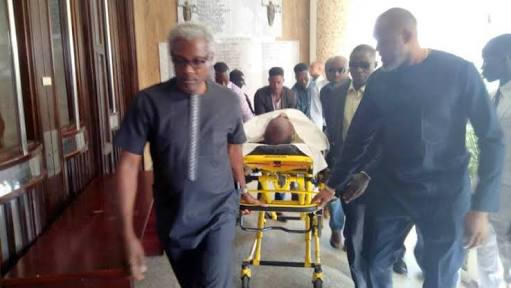 Olisa Metuh Falls Down In Court - Collapses Before Trial Could Begin
