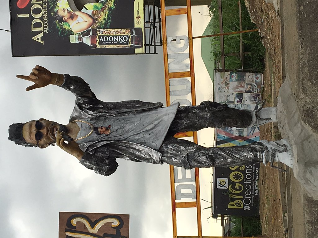 PHOTOS!!!: LARGE Phyno's Statue At Eleme Junction In Port Harcourt