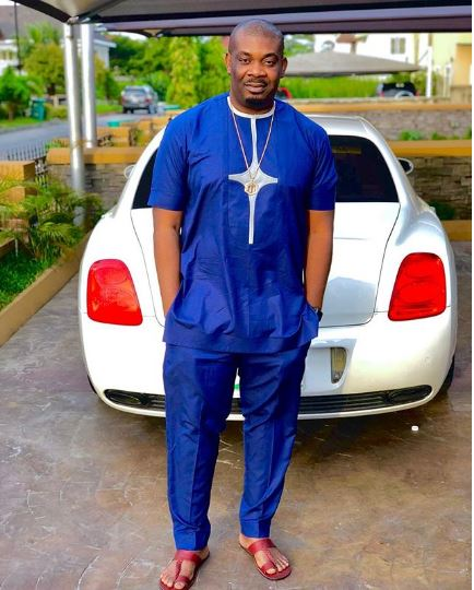 Don Jazzy Poses With His White Bentley Continental (Photo)