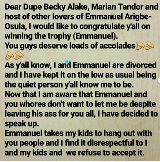 Mother of two,Celebrates Her Divorce And Calls Out All The Side Chicks