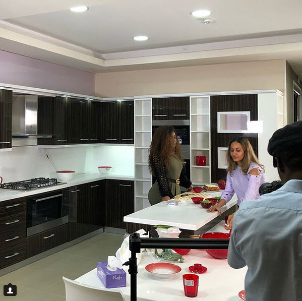 Chef Test Kitchen: Photos Of Davido's Girlfriend, Chioma Running Cooking Test