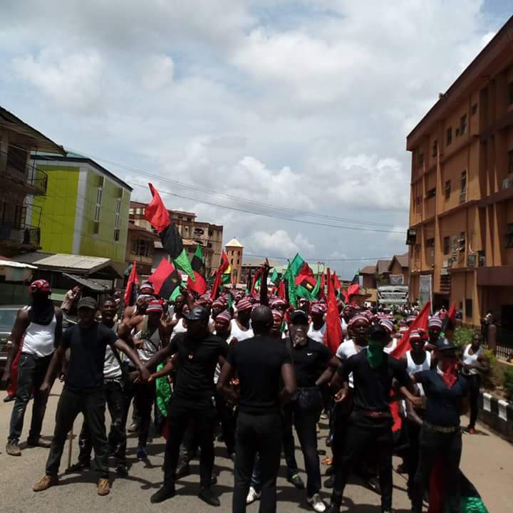 IPOB Protest In Aba & Onitsha Biafra Day 2018