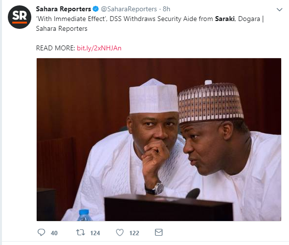 BREAKING!!!: Nigerians React To Saraki's Impending Arrest, As DSS Withdraws His Security