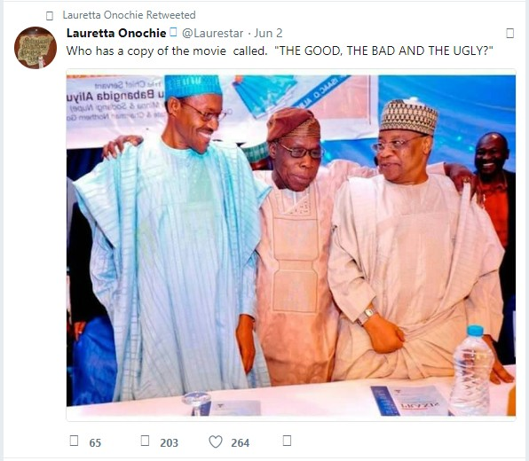SHOCKING!!!:  Lauretta Onochie Calls Ex-Presidents Obasanjo, Babangida 'Bad, Ugly' (See Photo)