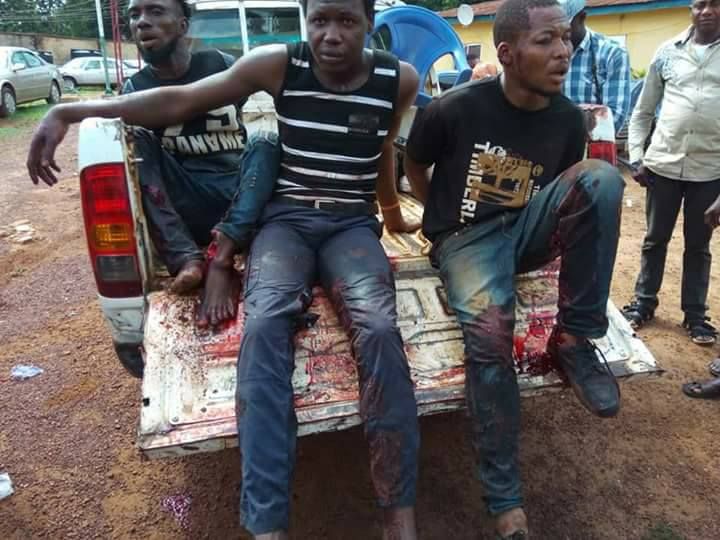Armed Bandits Arrested While Robbing Market Women In Enugu (Photos)