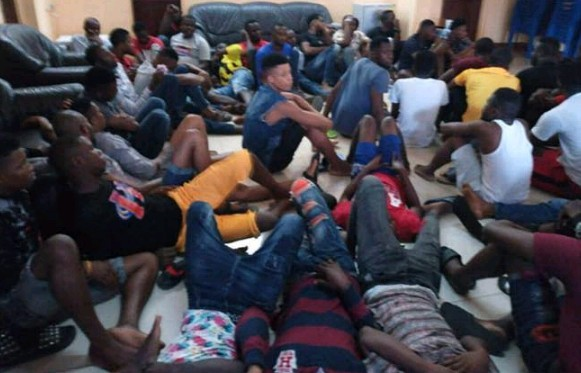 50 Nigerians Arrested For Internet Fraud & Robbery In Ghana