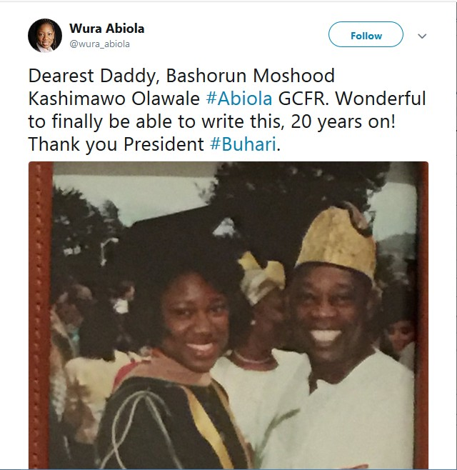 Abiola Family React To June 12 Democracy Day