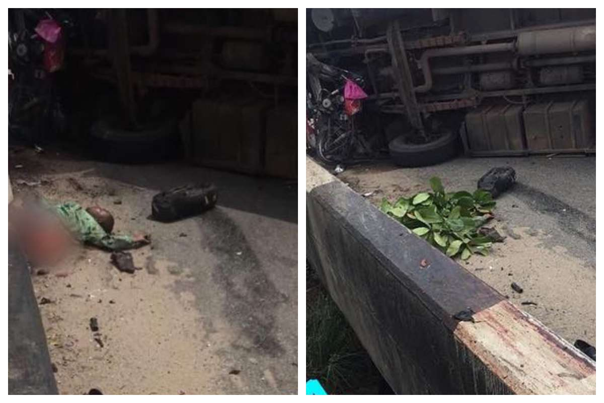 Man Who Just Got Sacked, Cut Into Two By BRT Bus (Graphic Photo)