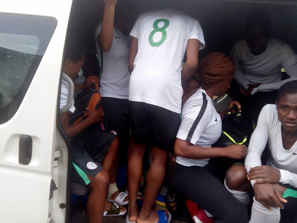 30-Woman National Team Players Packed In A 14 Seater Bus In Abuja (Photos)