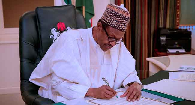 BREAKING!!!:  Buhari Signs Law Stopping VPs Who Complete President's Tenure