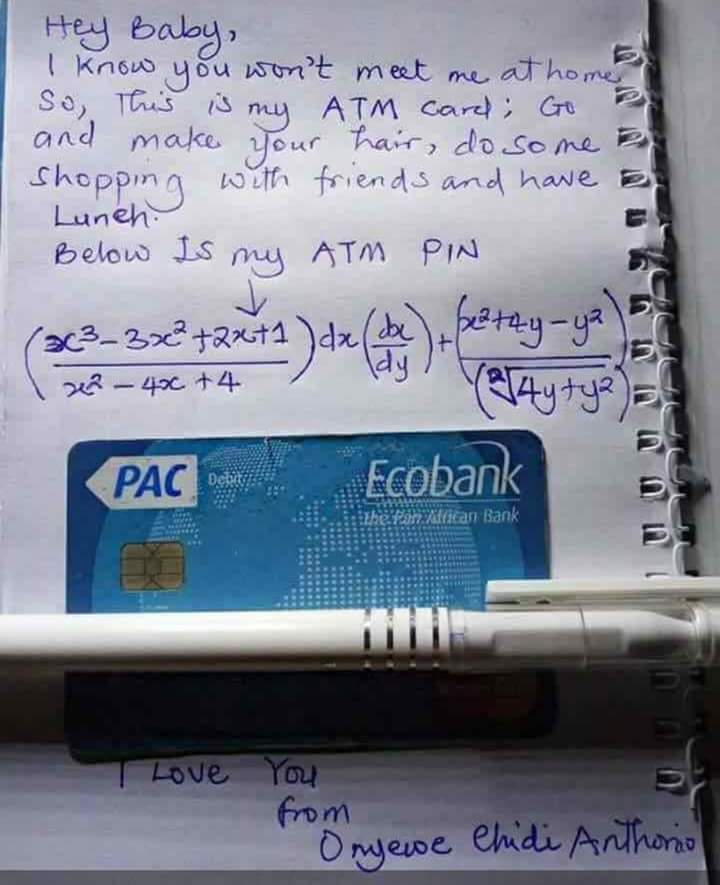 Boyfriend Drops His ATM Card For His Girlfriend With Mathematical ...