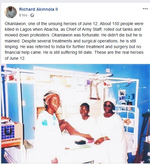 See How This Man Paid The Price After Participating In June 12 Annulment Protest
