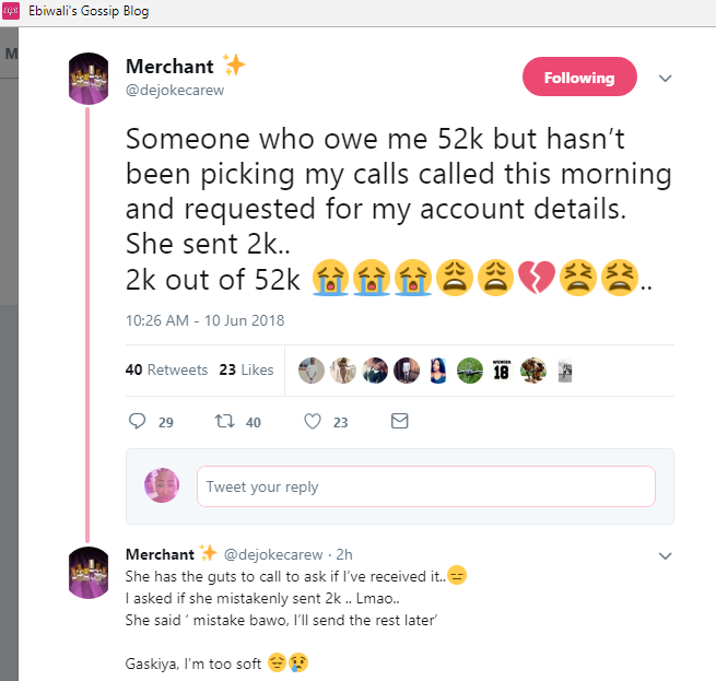 WOW!!!:  Lady Shocked As Slay Queen Who's Owning Her N52k, Sends Her 2k Out Of It