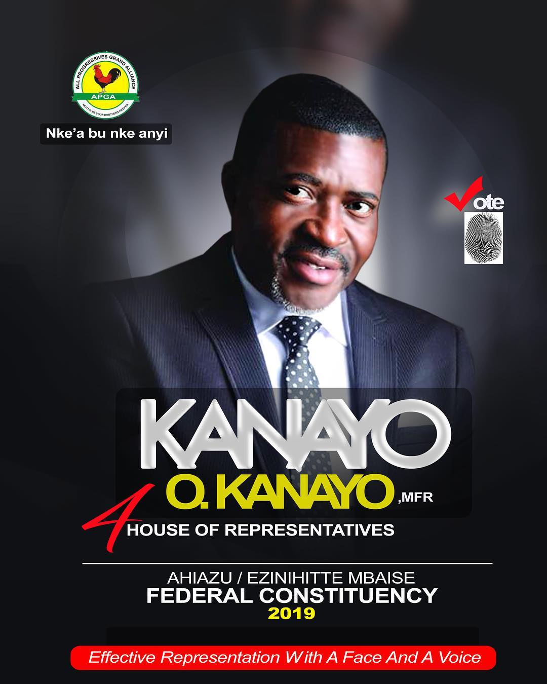Veteran Actor, Kanayo O. Kanayo, Releases His Official Campaign Poster