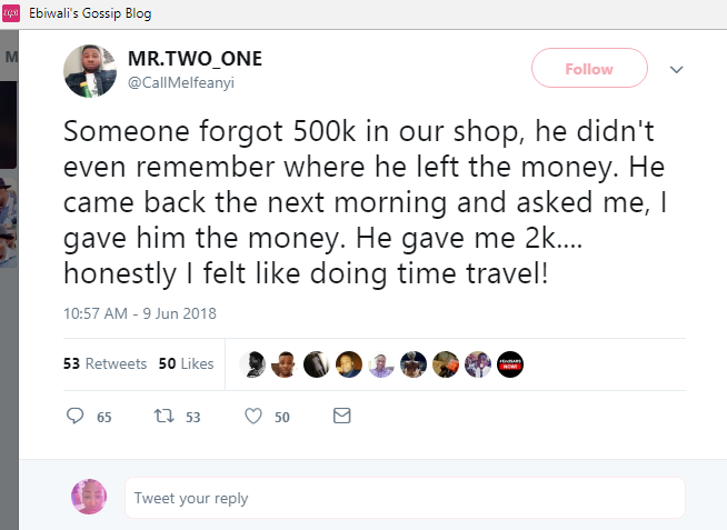 SHOCKING!!!:  Man Who Returned Lost N500k & Was Given N2k Cries Out