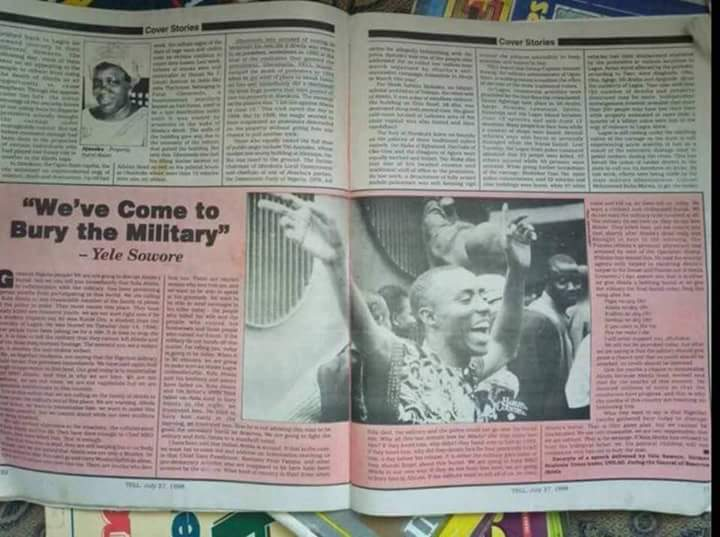 Image result for Sowore: How We Stopped The Military From Burying Abiola In 1998