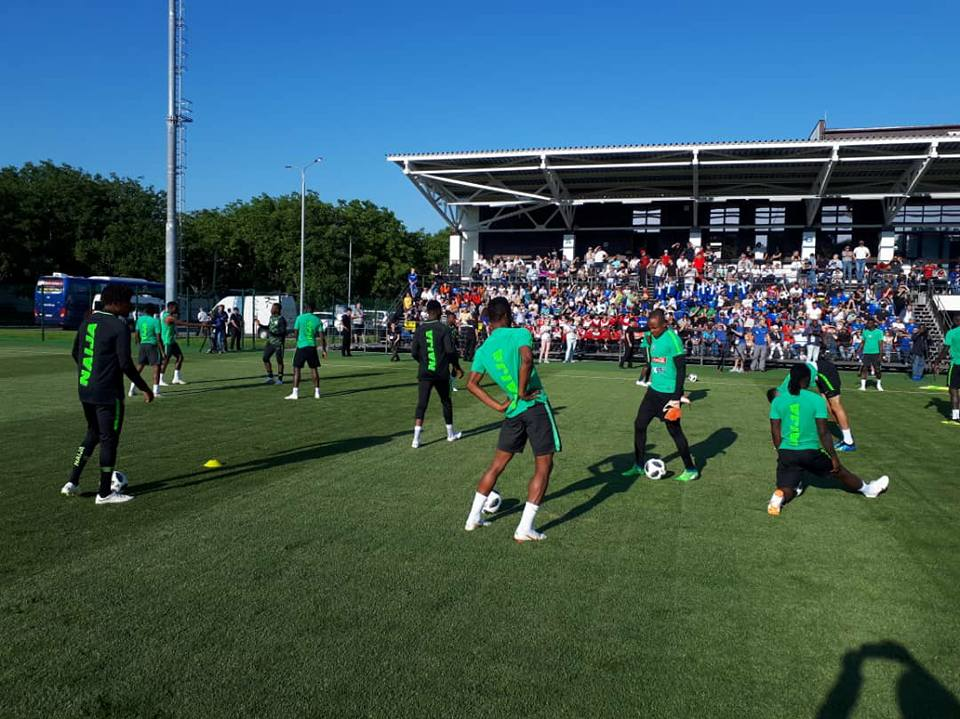 Super Eagles Begin Their First Training In Russia Ahead Of World Cup [Photos]