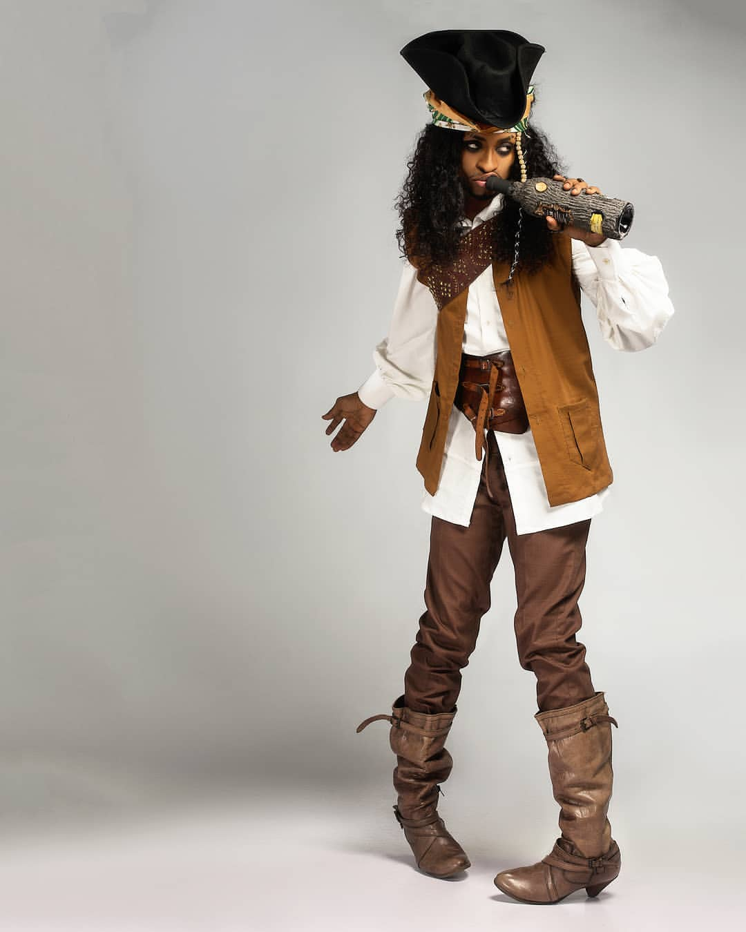 Denrele Edun Is 'Jack Sparrow' In New Photos As He Celebrates His 37th Birthday
