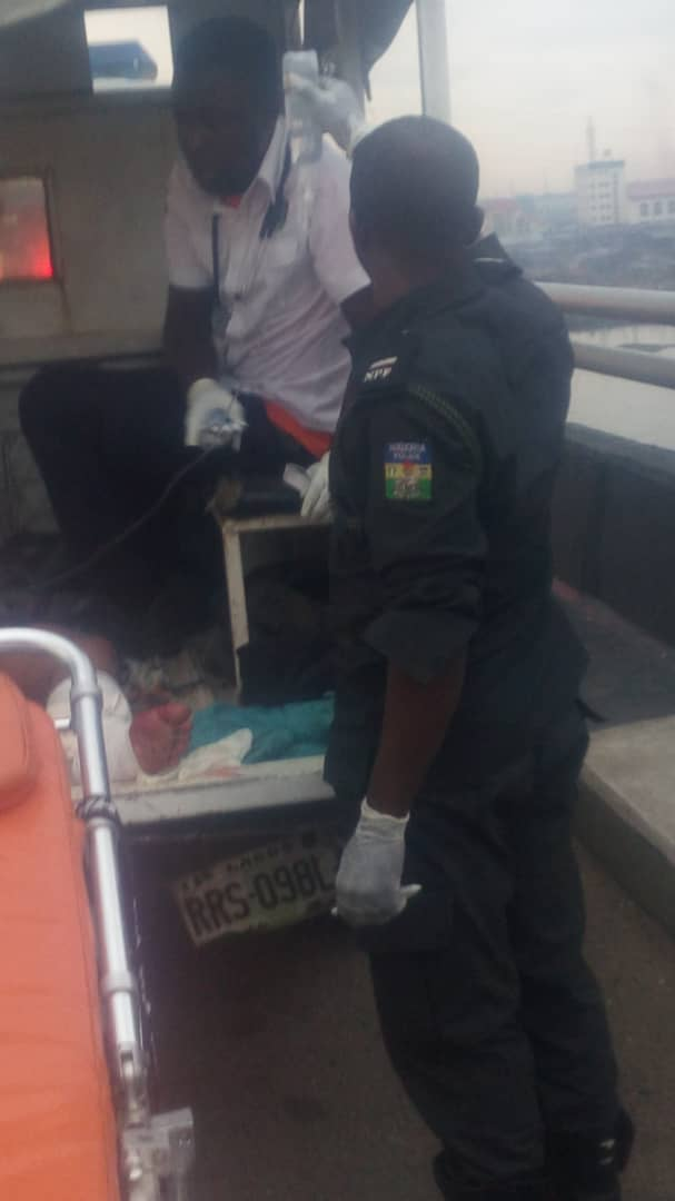 Crash Barrier Saves 22 Passengers From Plunging Into Lagos Lagoon [Photos]
