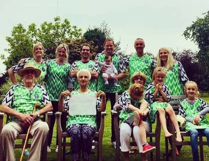 43be81dcf A White Family Rocking The Super Eagles Jersey (Photo) - Sports ...