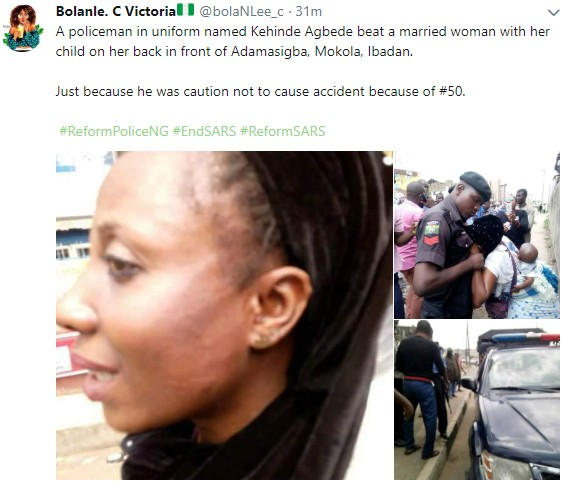 Police Slaps Woman In Ibadan