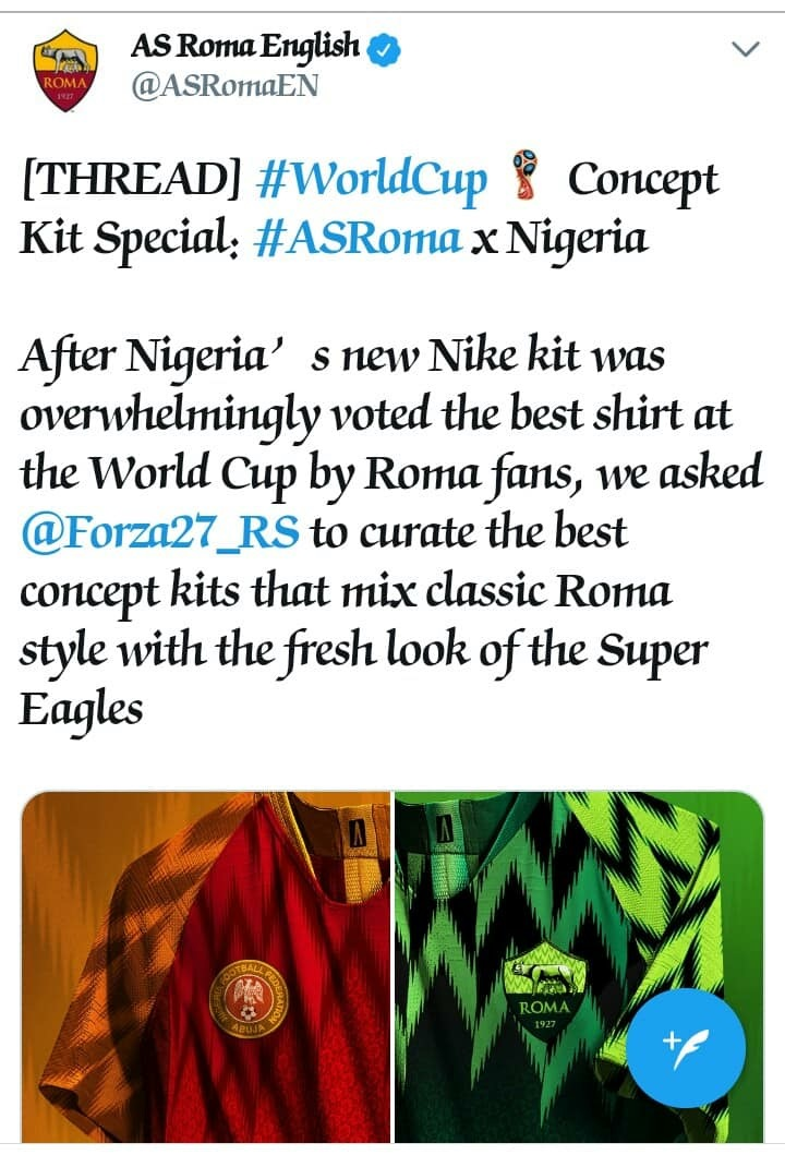 701743725 See The New Jersey for AS Roma Inspired by the Nigerian Super Eagles ...