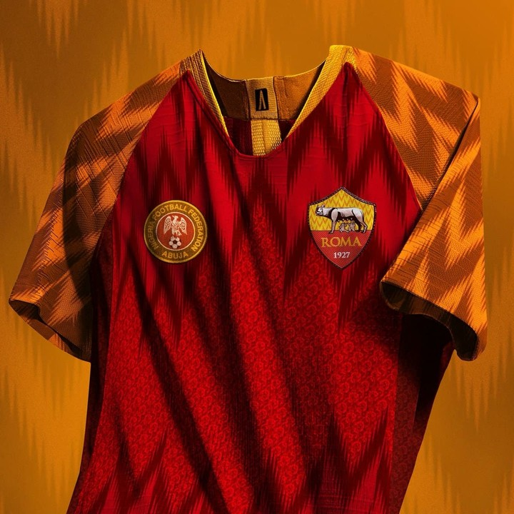best service b9bcf e706c AS Roma Adopts New Kit After Super Eagles' Jersey -
