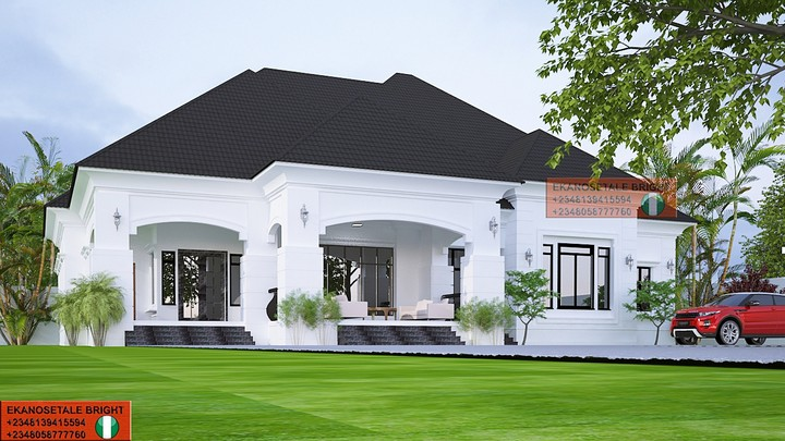 Proposed Four Bedroom Bungalow Architectural Design ...