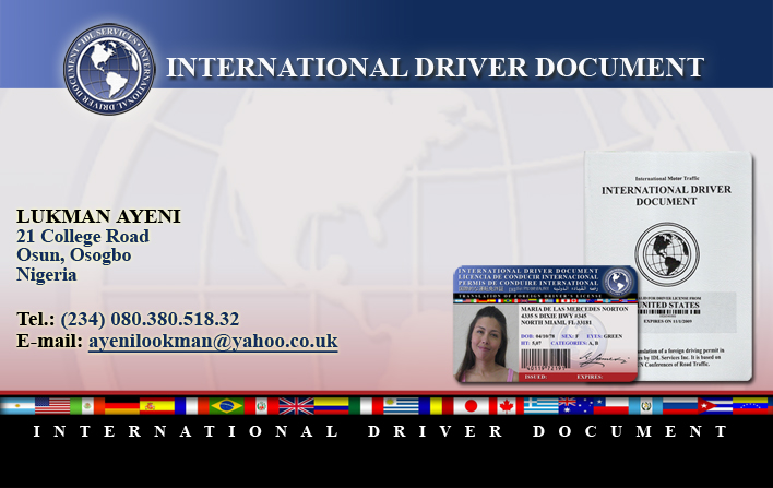 Application For International Drivers Permit/ Licence ...