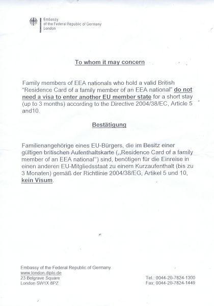 Letter To Uk Embassy For Visa