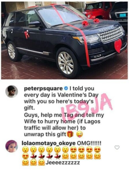 Image result for peter okoye buys Range Rover for his wife