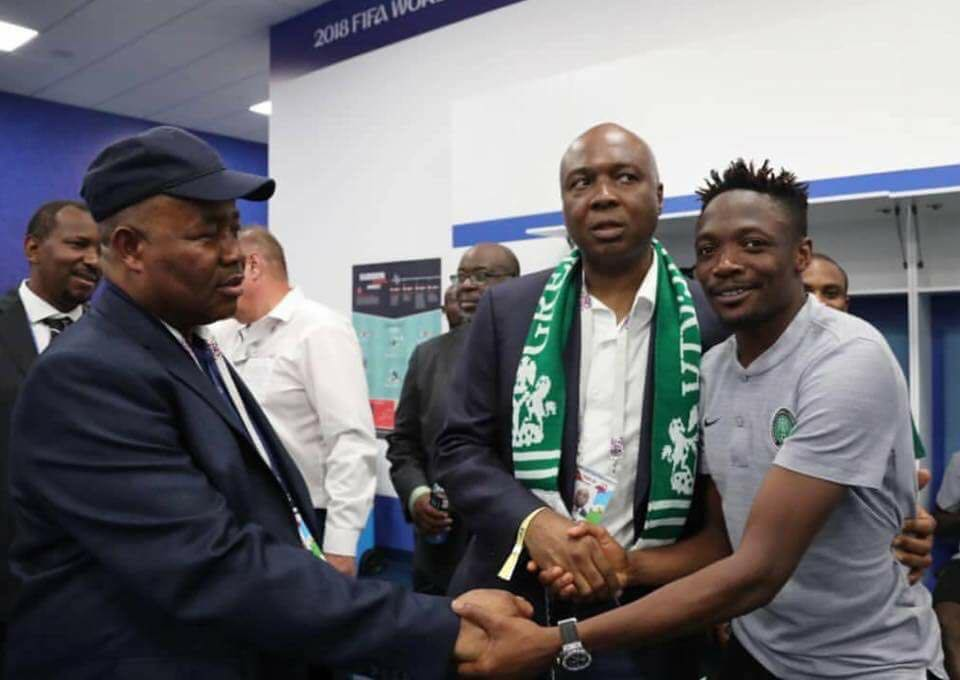 Nigerian Senators Meet Ahmed Musa After World Cup Match In Russia